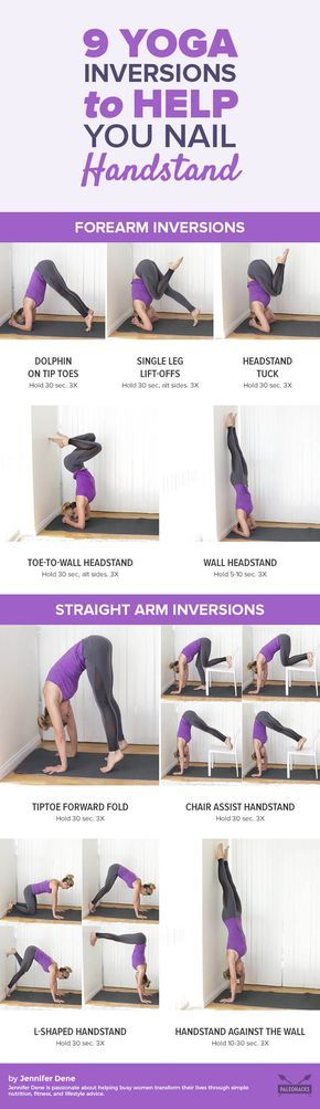 Going upside to get used to bearing the weight of your body. Get the workout here: http://paleo.co/9yogainversions