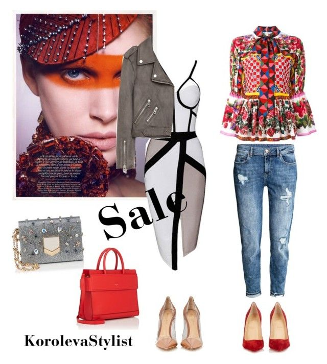 """""""Sale👌🏻"""" by iran-88 on Polyvore featuring мода, H&M, Dolce&Gabbana, Christian Louboutin, Gianvito Rossi, Jimmy Choo, Givenchy и Jakke"""
