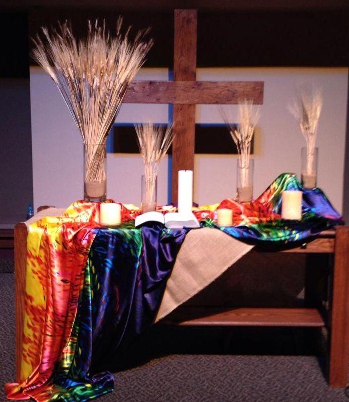 Altar Ideas: 172 Best Church Decor Images On Pinterest