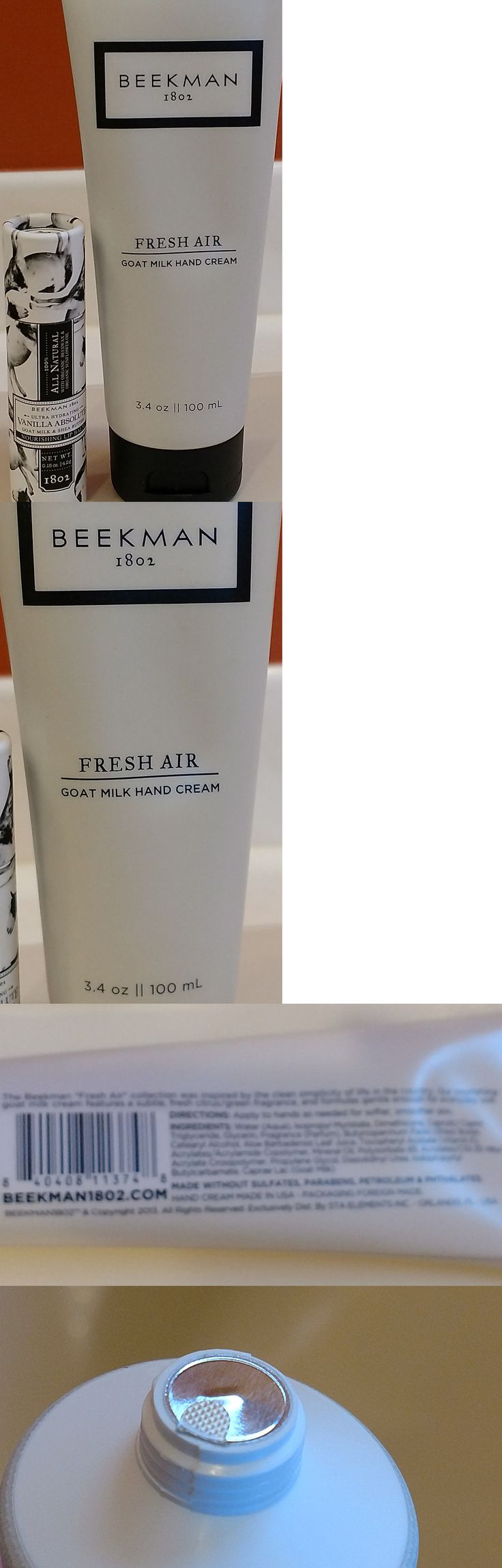 Lip Balm and Treatments: Beekman 1802 Fresh Air Goat Milk Hand Cream 3.4Oz And Vanilla Absolute Lip Balm BUY IT NOW ONLY: $32.0
