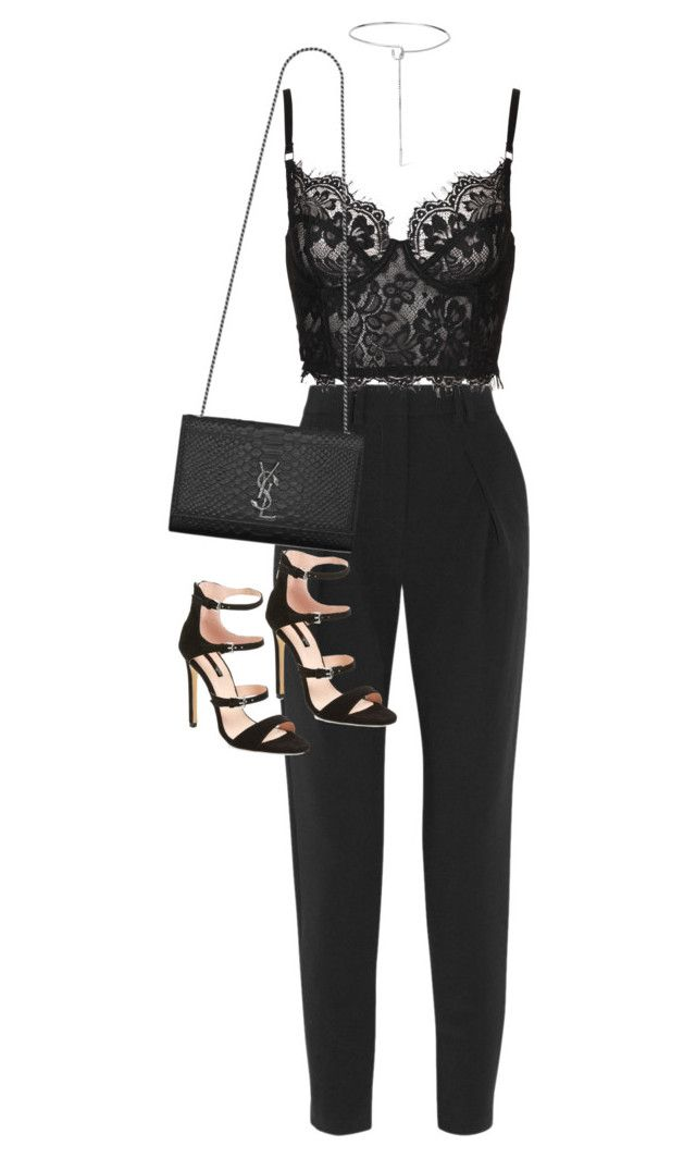 """Sem título #1373"" by oh-its-anna ❤ liked on Polyvore featuring Proenza Schouler, Yves Saint Laurent, Topshop and Eddie Borgo"