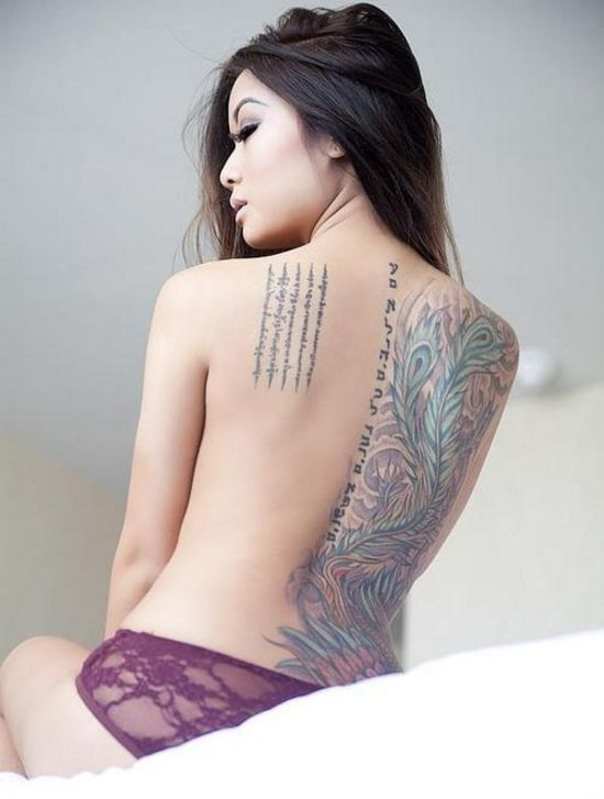 360 best tattoos images on pinterest tattoo ink tattoo for Hot female back tattoos