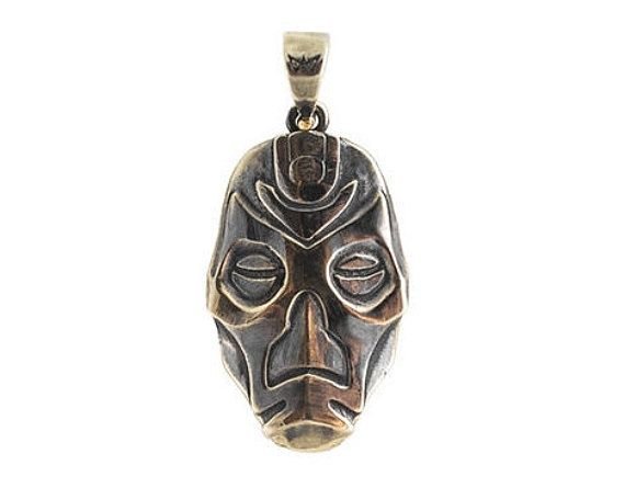 Dragon Priest Mask Morokei necklace inspired by by Mastenarium