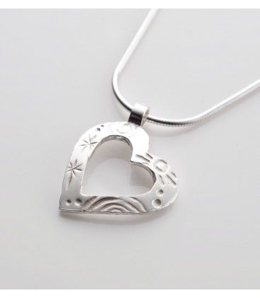 Sterling Silver Heart Pendant by The Cat and the Moon