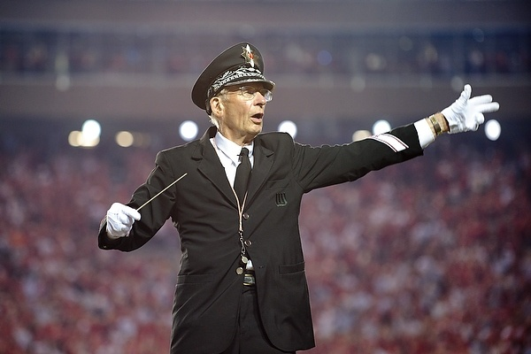 UW Marching Band Director Michael Leckrone leads the band at the 2011 season opener vs. UNLV
