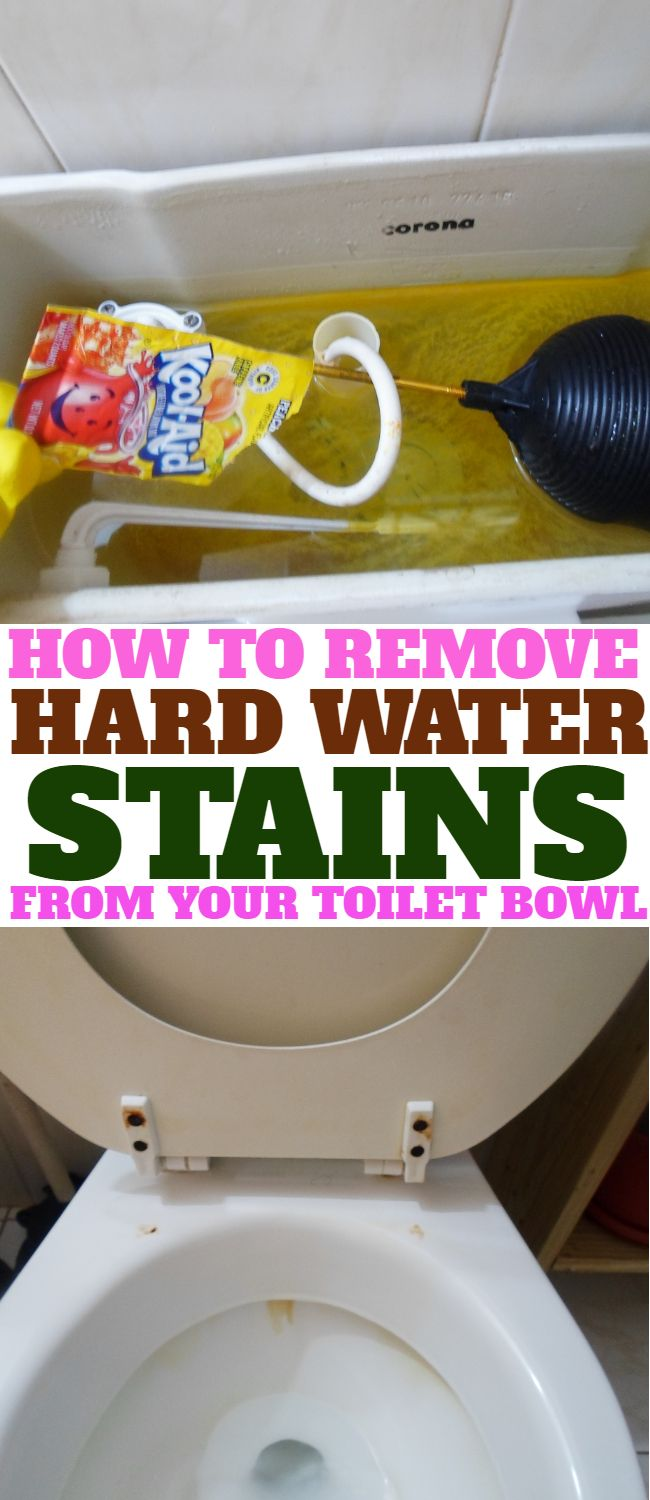 Get Rid Of The Rings And Yellow Or Brown Marks In Your Toilet Bowl They Are Caused By Hard Water Coming From Tank Here Is How To Remove Them
