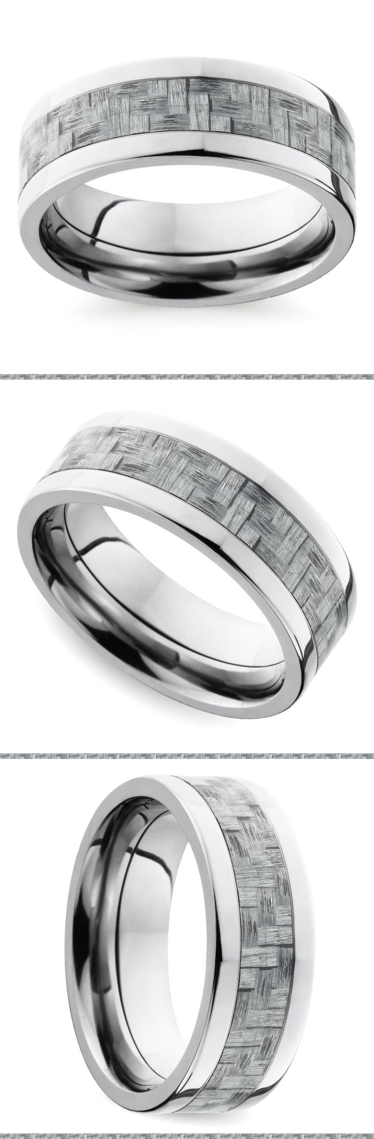 17 Best Images About Carbon Fiber Mens Wedding Rings On Pinterest