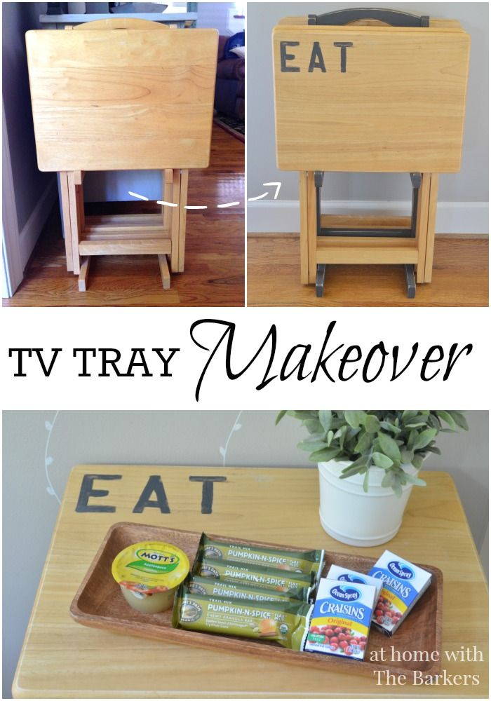 TV Tray Makeover using Chalky Finish Paint