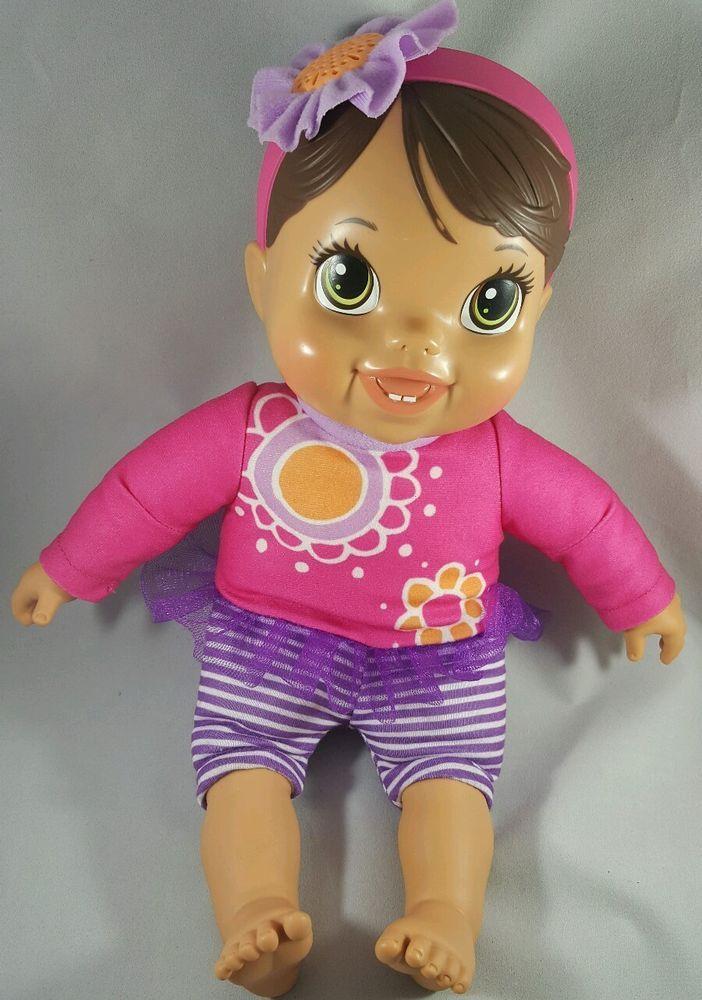 hasbro baby alive doll hug talking cuddle snuggle soft plush body hasbro