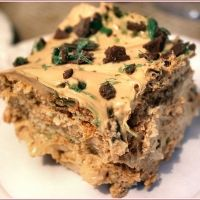 Peppermint Crisp Tart, South African Dessert - my absolute favourite! Cream, caramel, mint chocolate mmmmmmm