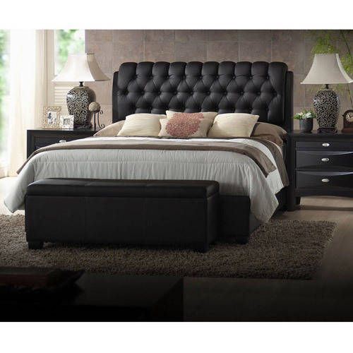 Black Queen Bed Headboard Set Tufted Faux Leather Modern Bedroom Furniture SALE: $355.24End Date: Feb-21 07:27Buy It Now for… #eBay #Amazon
