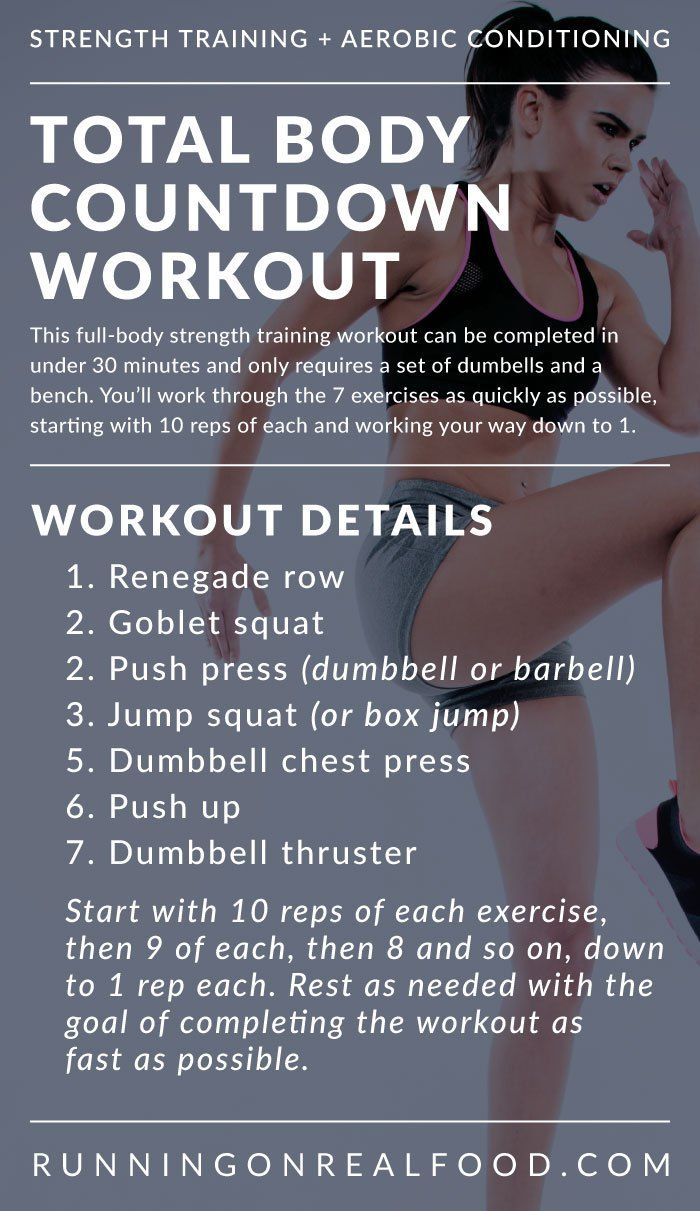 Total Body Countdown Workout for Strength and Conditioning