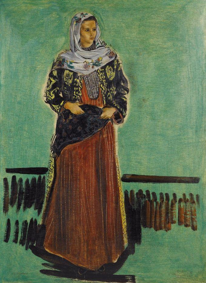 bedri rahmi eyüboğlu kadın portresi