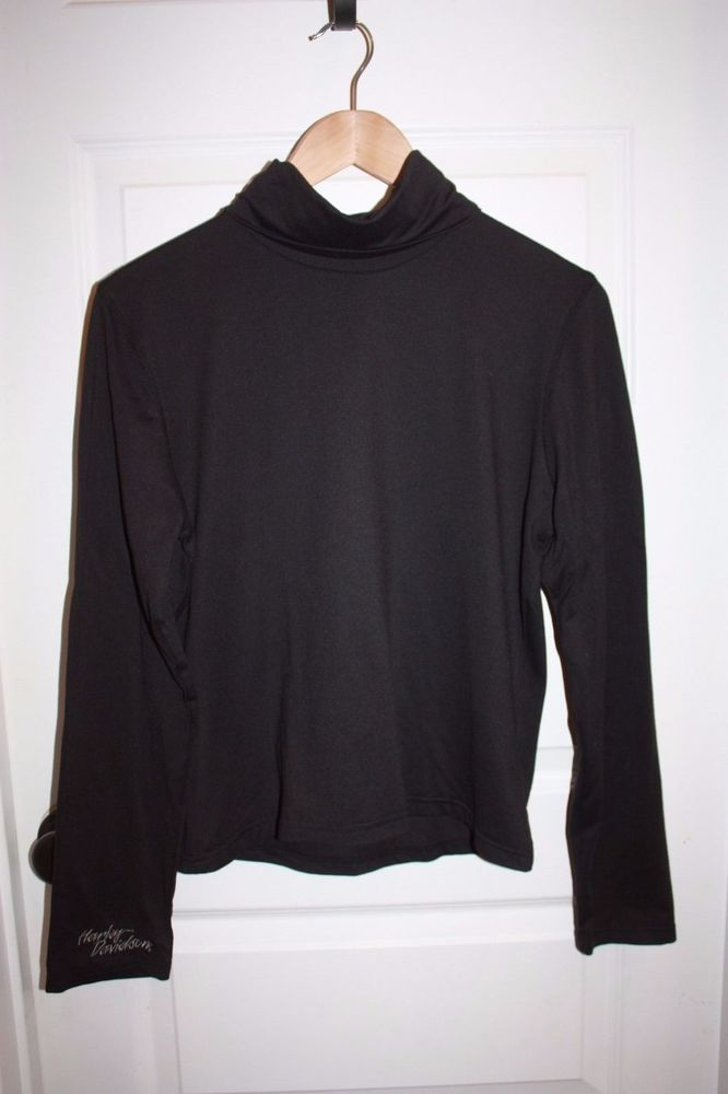Women's Harley Davidson Turtleneck - Size Large - Black - EUC! #HarleyDavidson #Turtleneck