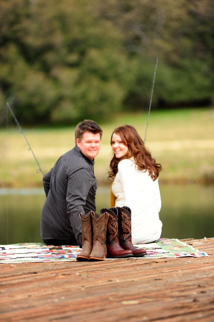haha my boyfriend would probably want to do something like this:::Country Engagement Photos