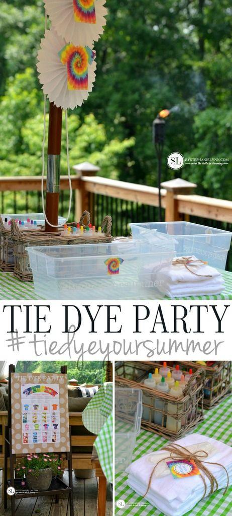 DIY Tie Dye Party #tiedyeyoursummer #michaelsmakers