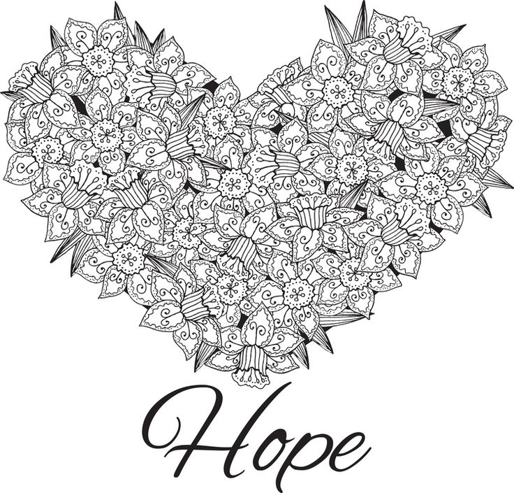 Coloring Pages Adults Hearts Coloring Pages