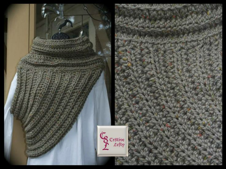 Taupe Katniss Inspired Cross Body Cowl (Hunger Games) - Handmade in the U.S.A. Calling all Hunger Games fans!!  This cross body cowl is inspired by the character Katniss Everdeen. It is created using very soft bulky yarn and is easy to care for because it is machine washable.  The stone color, with orange and yellow flecks, makes this a welcome accessory to any outfit.  It is very versatile and can be worn on either shoulder.  $39.00 + shipping. #crochet #handmade