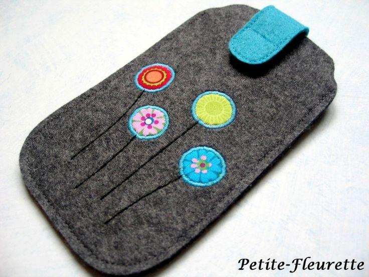 Handytaschen - Handytasche Filz - ein Designerstück von Petite-Fleurette bei DaWanda                                                                                                                                                                                 Mehr
