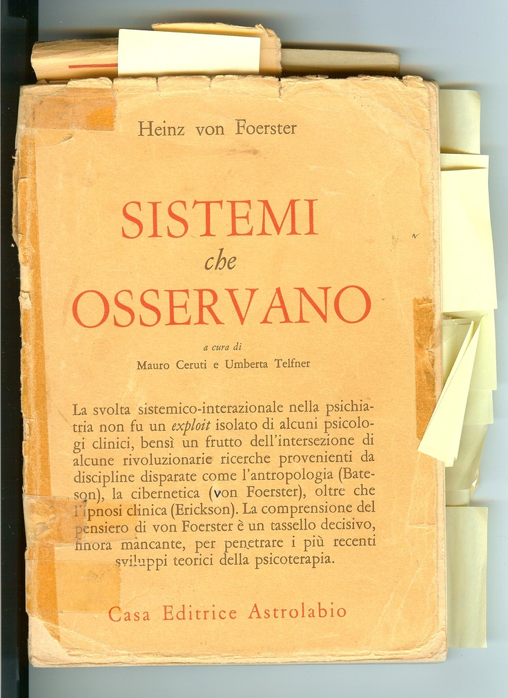Observing Systems by Heinz von Foerster