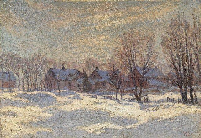 A Corner of My Village, Arthabaska, 1911, Marc-Aurele de Foy Suzor-Cote…