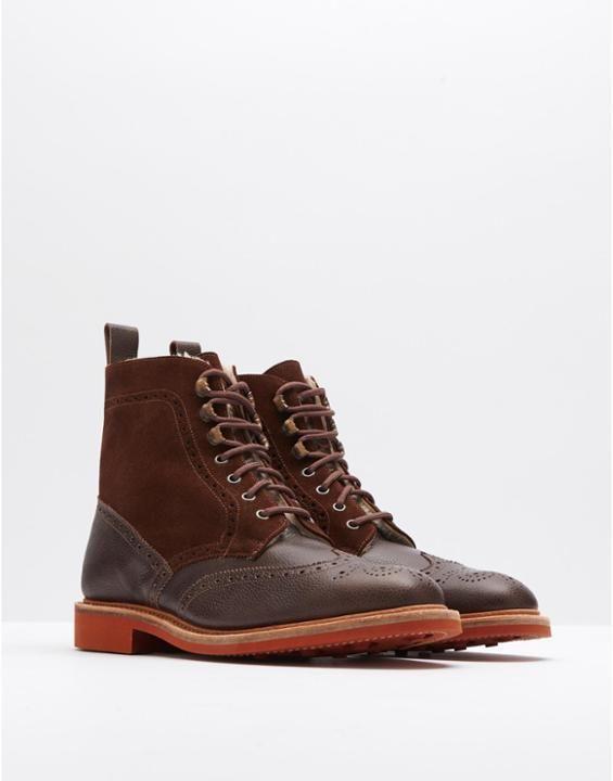 WINTERBURNShearling-Lined Brogue Boots