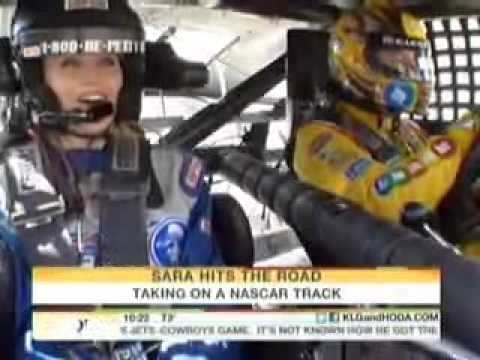 NBC Today Show Sara Haines - Richard Petty Driving Experience - with Kyle Busch - Atlanta Motor Speedway