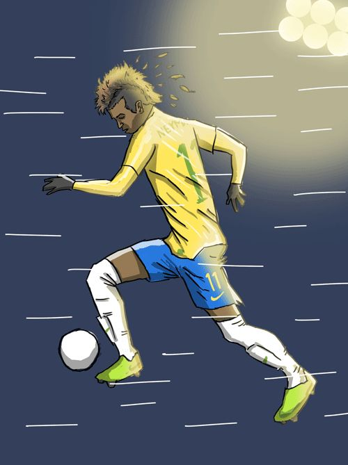 e88560add10ea Neymar by Dan Leydon (click for gif)