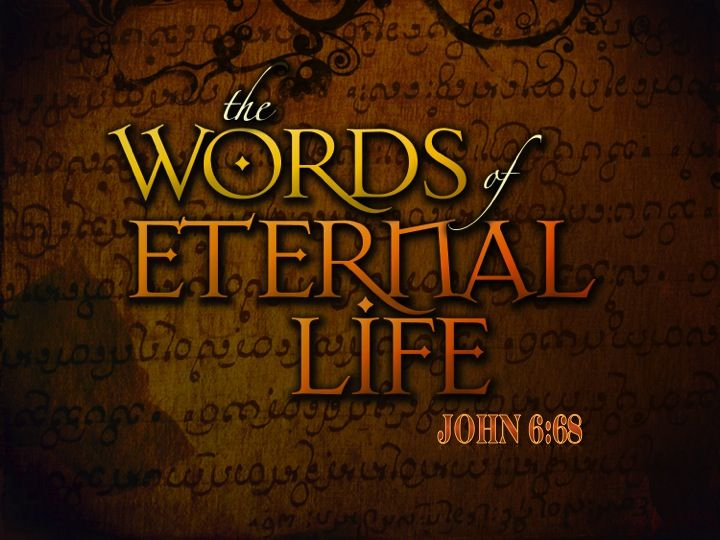 """Simon Peter answered Him, """"Lord, to whom shall we go? You have words of eternal life.  -John 6:68    Read more: http://www.knowing-jesus.com/john-6-68/"""