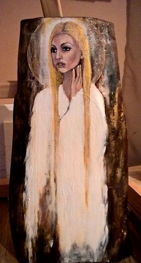 anioł, malarstwo, akryl, weronika skuza