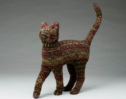 Okay, so this might not be for everyone.  But I am a knitter, and I am also a cat person, so by default I love this.  I can appreciate the work that went into it and I think it's a pretty decent looking cat.  Because not all handcrafted animals look right.