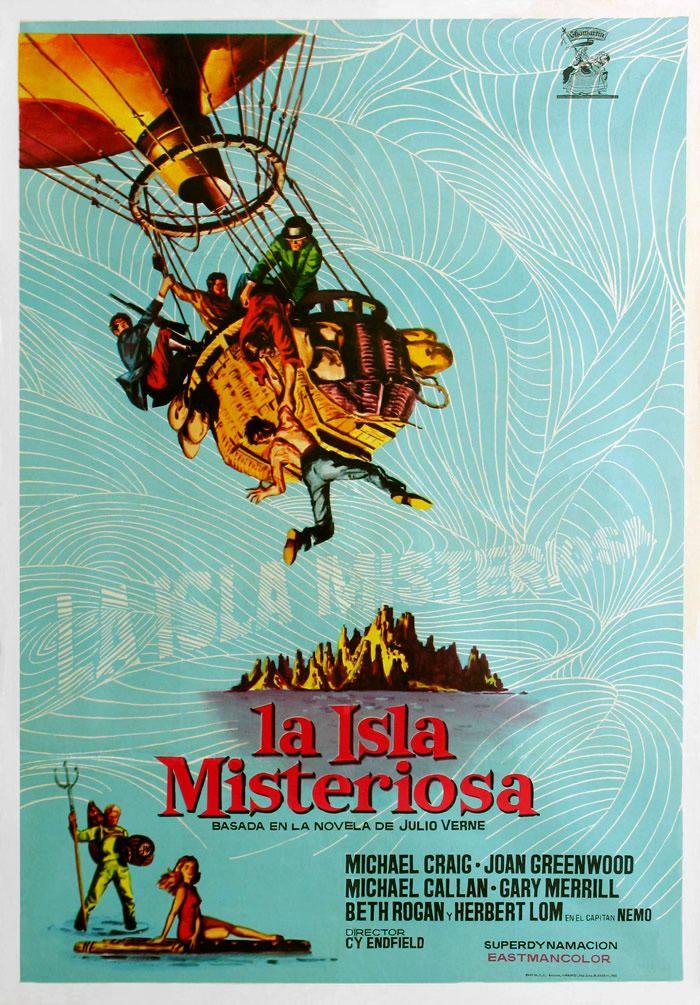 La Isla Misteriosa 1961 Poster Busqueda De Google Misterioso Islas Island