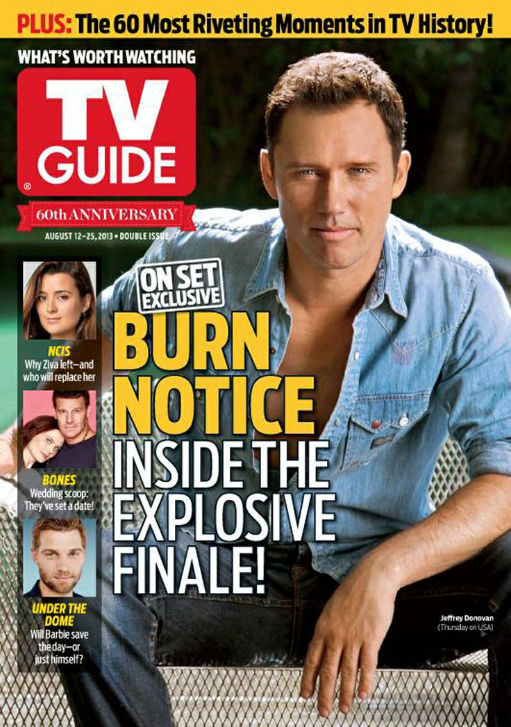 Jeffrey Donovan on the cover of TV Guide Magazine. August 12, 2013