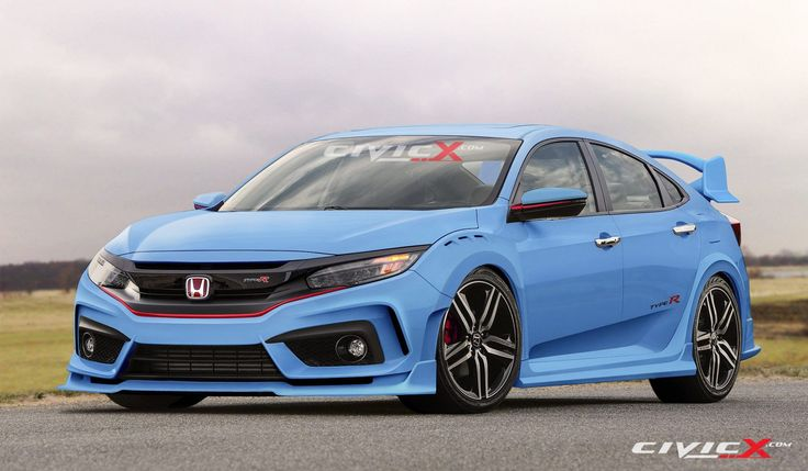 2017 Honda Civic Type R Looks Ready to Summon Satan in Latest Renderings, Has Muffler Bypass