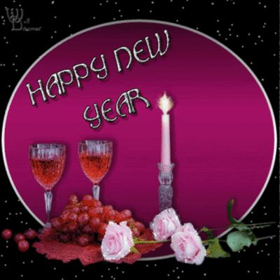 happy-new-year-pink-rose-glitter-scrap.gif (400×400)