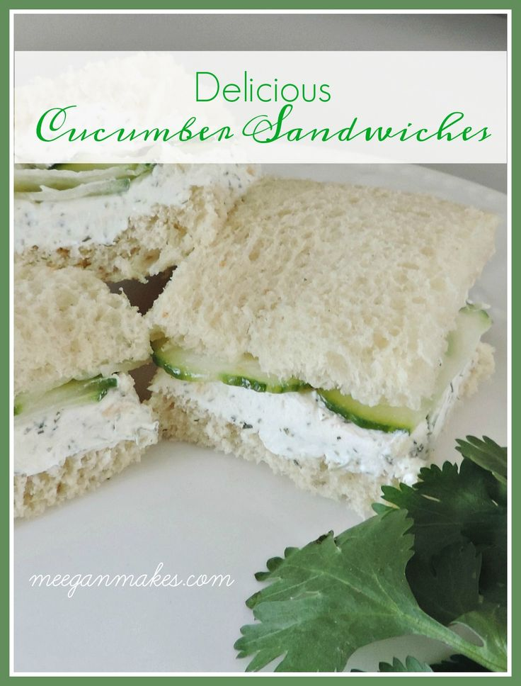 An EASY Cucumber Finger Sandwich Recipe is the perfect for a hot summer day or p…