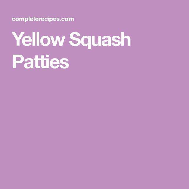 Yellow Squash Patties