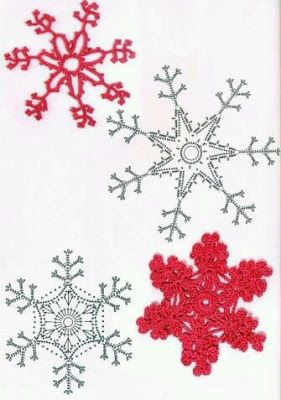 Decorazioni Natalizie Fiocchi Di Neve.Schemi Fiocchi Di Neve Ad Uncinetto Decorazioni Natalizie