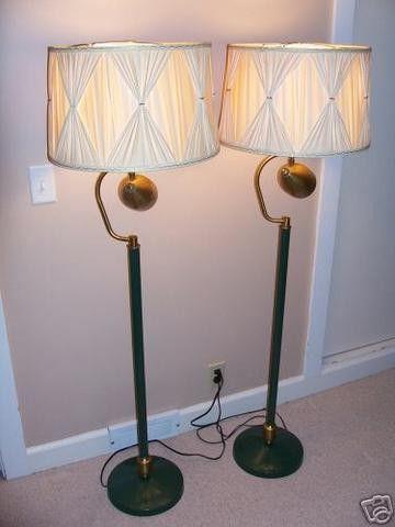 Pair of Vintage Floor/Reading Lamps Eames Era 1950's   #27644328