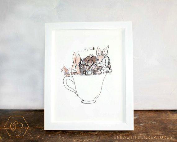 Tea Art Print Digital Download Kitchen by BEEautifulcreatures