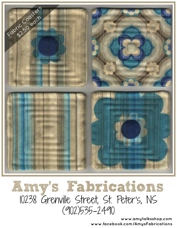 Amys Fabrications: Retro Fabric Coasters