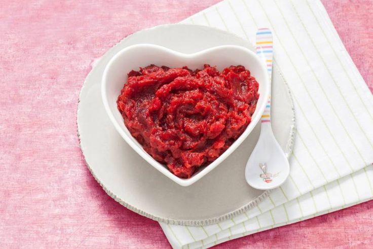 Opperdepop: kleurige bietjespuree met wortel 6 mnd - Recept - Allerhande