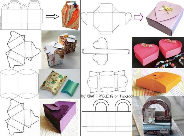 35 best Cajas images on Pinterest Gift boxes, Box templates and - homemade gift boxes templates