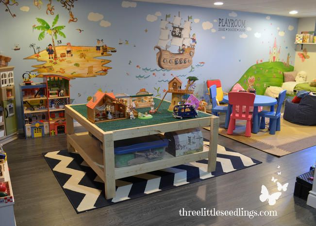 You'll love having a space like this for your kids to play! Hopefully it keeps all the toys contained to one tidy area. For a good functional space, ...
