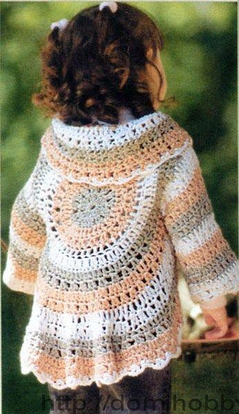 """"""" MOSSITA BELLA PATRONES Y GRÁFICOS CROCHET """": Chaleco circular para niña a Crochet"""
