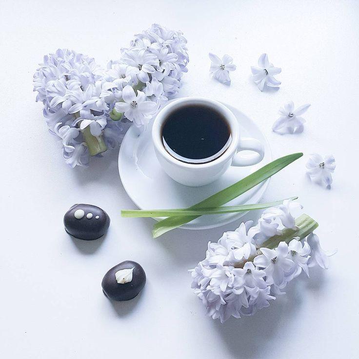 """""""  coffee with hyacinths  """""""