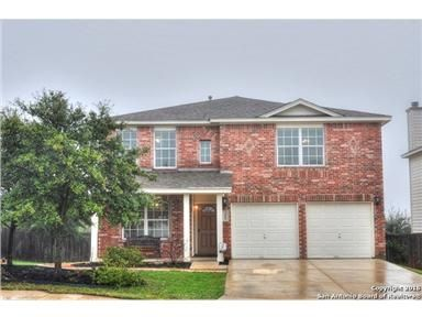 2-story, Cul-de-sac , well maintained family home & great NE-ISD schools! Huge kichen, w/island, living room w/fireplace, formal & kitchen dining. 4-bedrooms + 1st flr. Office + family room upstairs that could easily be converted to 5th bedroom! Lots of storage, 2-Mstr walk-in closets + walk-in closets in two of secondary bdrm's and Family room. Large, covered deck community pool, sports court, jogging trails. Super neighborhood!!