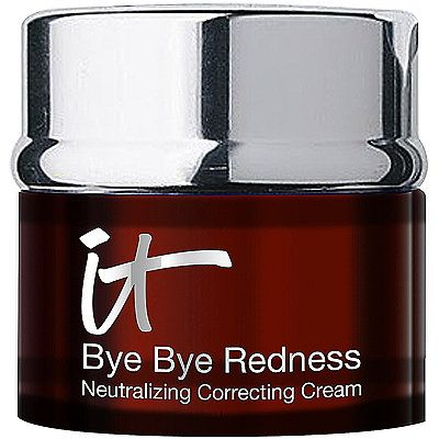 $32 (0.37 oz) 4.4/5 stars. It CosmeticsBye Bye Redness Correcting Creme is a red neutralizing and correcting cream that completely cancels redness in your skin from view. Rich in peptides, hydrolyzed collagen and anti-aging technology, it camouflages redness and any red-toned skin discolorations from rosacea, broken capillaries, blemished skin, irritated skin, sun damage, scars, age spots, physician procedures and more! To achieve flawless complexion.