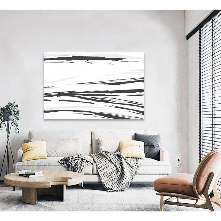 Black white abstract paintingextra largeoriginalwall