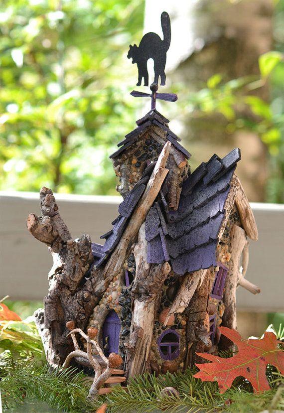 Samhain Fairy House  Your Halloween by MossyBraeFairies on Etsy, $325.00